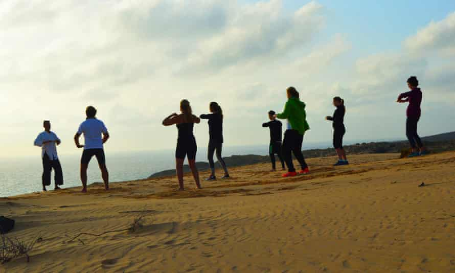 Tai Chi Qigong practice, Azul Villa, Fuerteventura