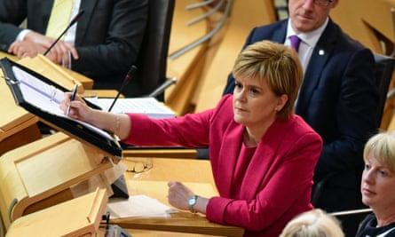 Nicola Sturgeon, the Scottish first minister,