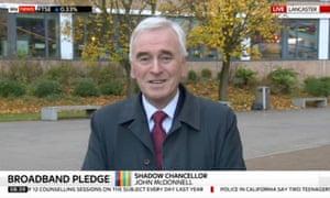 John McDonnell speaks to Sky News from Lancaster