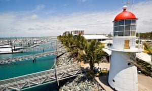 A marina and lighthouse in Mackay, Queensland. The Mackay Regional Council has been awarded Australia's best tasting water.