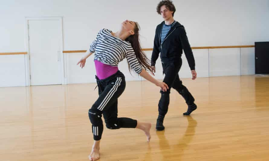 'I watch how Natalia makes it her own' ... rehearsing Arthur Pita's new work.
