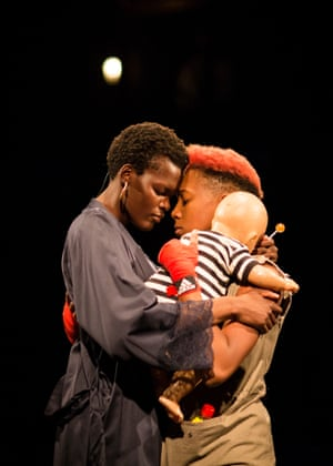 Sheila Atim as Lady Percy and Jade Anouka as Hotspur in Henry IV, from Phyllida Lloyd's all-female Shakespeare Trilogy for the Donmar.