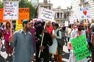 Muslim marchers in the Pride London Parade