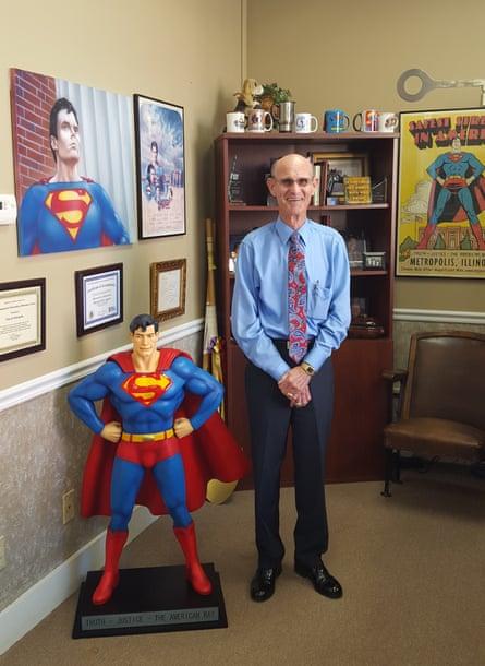 Mayor Billy McDaniel in his office.