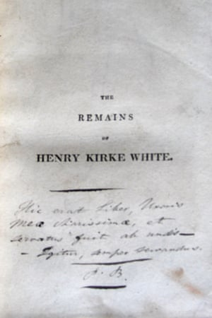 Title page of the book inscribed by Patrick Brontë.