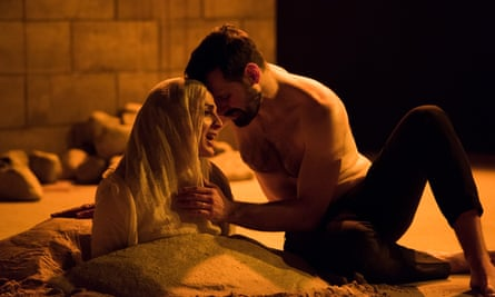 Laced with dark humour and a fierce sexual charge … Nicole Ansari (Layla), Adam Sina (Nur) in Sinners.