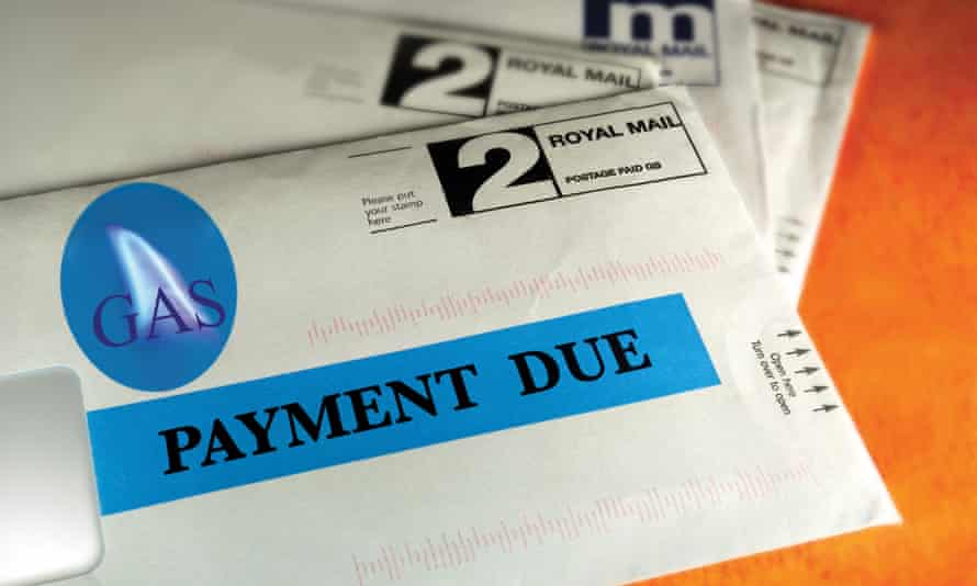 An envelope with payment due written across the front