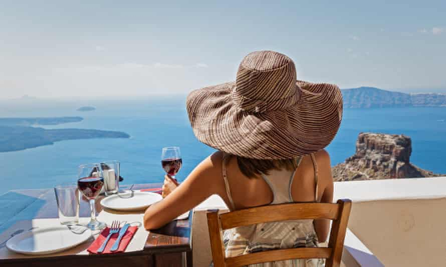 A taste of holidays: wines from volcanic islands, such as Santorini, have a salty mineral character and depth of flavour.