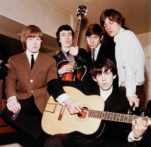 Brian Jones, Bill Wyman, Charlie Watts, Keith Richards and Mick Jagger in June 1964