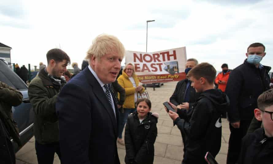 Boris Johnson in Hartlepool, 3 May 2021