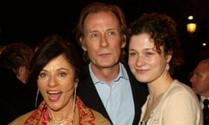 'There were charades. We sang the Marseilleaise': with ex-wife Diana Quick and daughter Mary at the Love, Actually premiere.