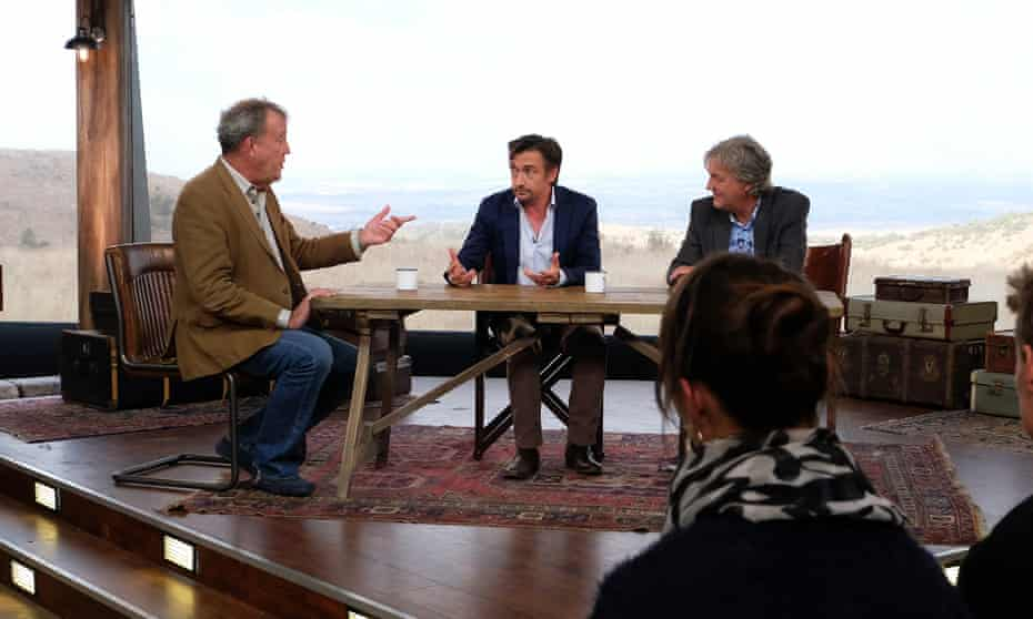 The Grand Tour presented by Jeremy Clarkson, Richard Hammond and James May.