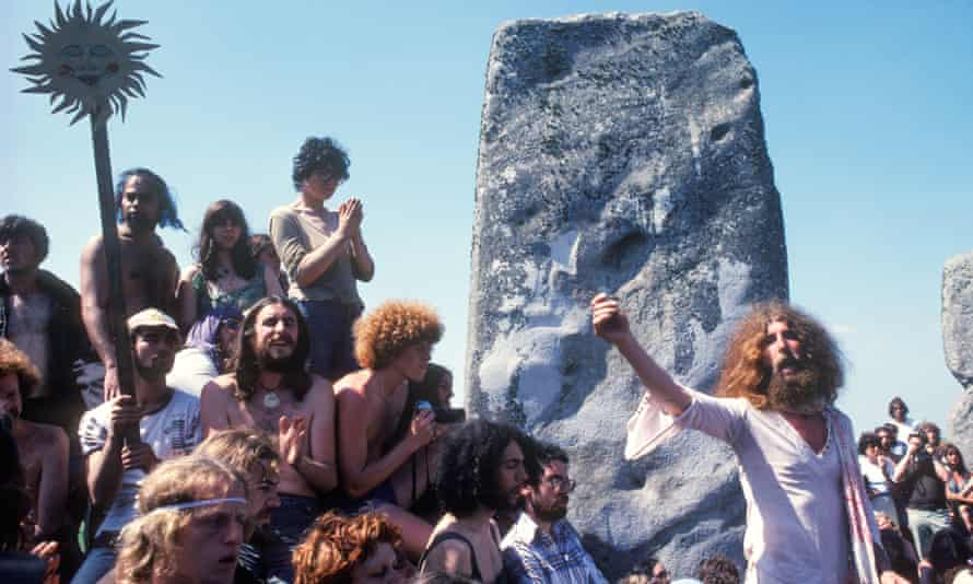A free festival at Stonehenge in the mid-70s.