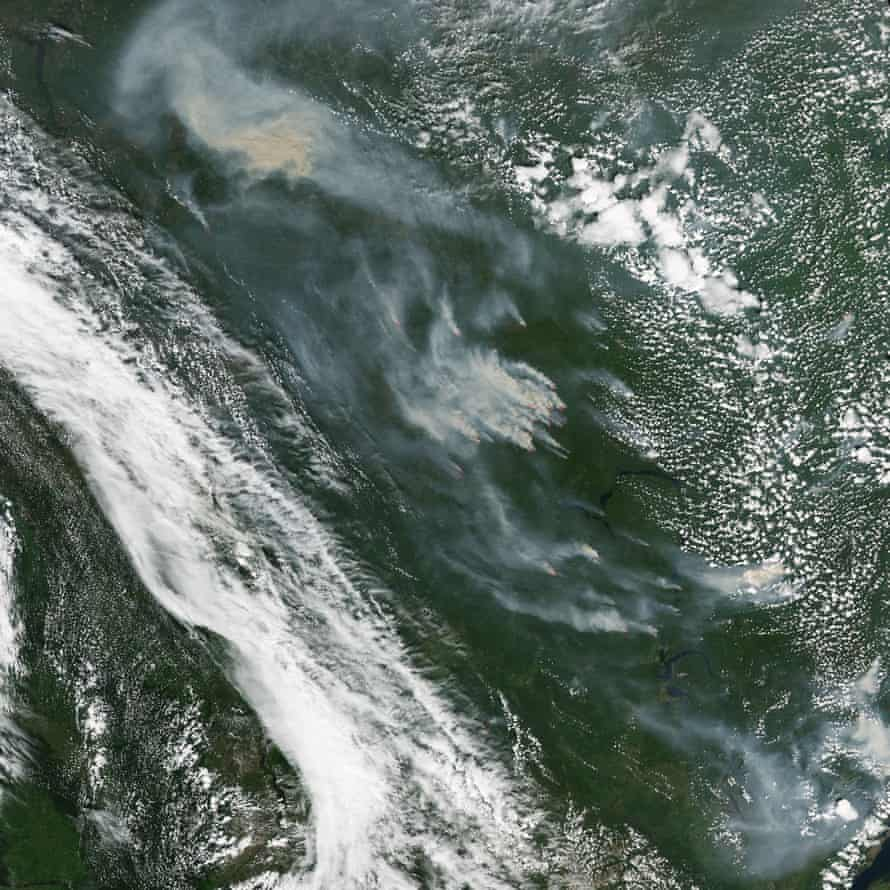 Wildfires in north-central Russia