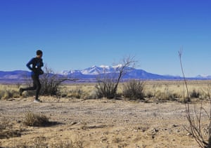 Navajo canyon runner Shaun Martin in Chinle, Arizona