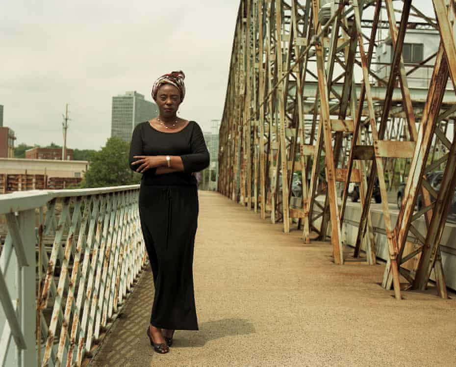 Ida Ivowi, photographed in East Newark, New Jersey. Her brothers Olume, 46, and Isi, 34, both died from Covid-19.