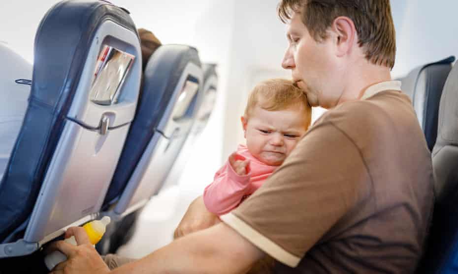 Long haul … babies hate flying
