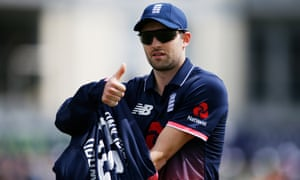 England's Mark Wood gives the thumbs up after his victorious return against Ireland in the First One-Day International at Bristol.