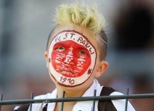 A young fan of St Pauli.
