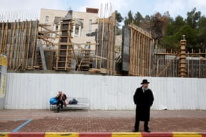 A construction site at the Israeli settlement of Ramat Shlomo in the occupied West Bank