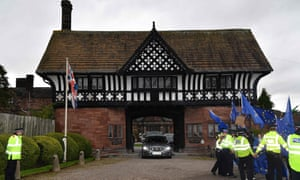 The prime minister used a country hotel half an hour from Liverpool as a 'neutral' venue for Brexit talks.