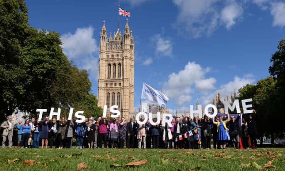 EU citizens ask MPs to guarantee their post-Brexit rights, London January 2019.