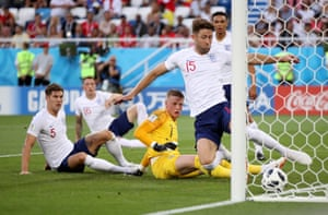 Then he spills another effort towards his own goal and Gary Cahill has to clear the ball off the line.