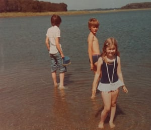 Hugh Thomson (left) with siblings Ben and Alice in Suffolk in the early 1970s.