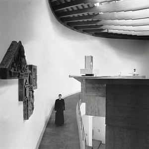 The precessional ramp inside St Peter's College, Cardross