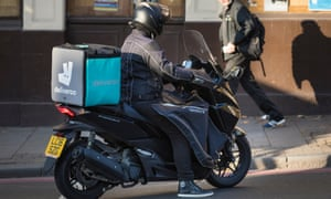 Deliveroo workers are told to log in when they start work.