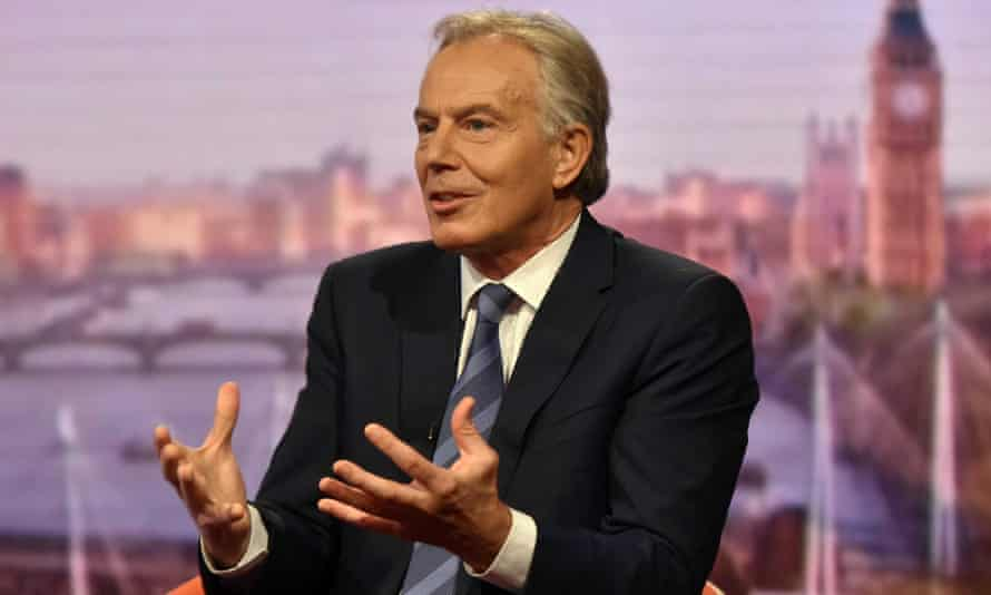 Tony Blair appears on the Andrew Marr Show.