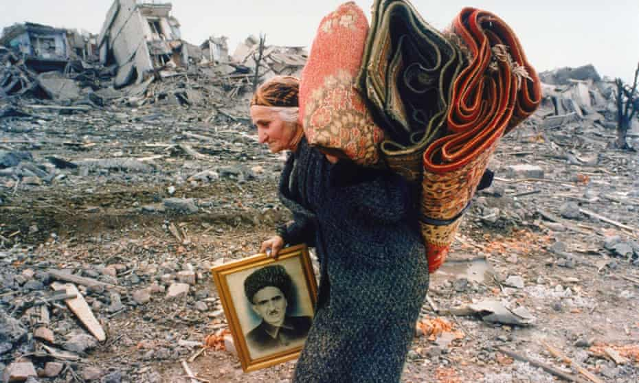 Grozny after the Russian bombardment in the late 1990s