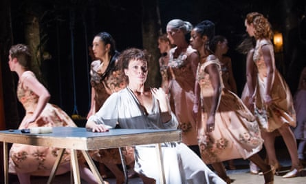 Helen McCrory (Medea) in Medea by Euripides @ Olivier, National Theatre (Opening 21-07-14) Tristram Kenton