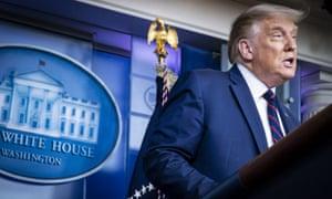 Donald Trump announces FDA emergency authorization for blood plasma as a coronavirus treatment.
