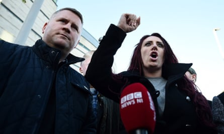 Paul Golding and Jayda Fransen, leader and deputy leader of Britain First