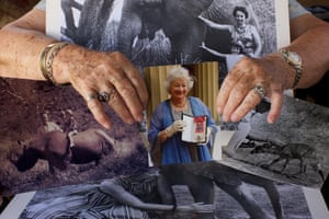 A photograph of renowned elephant conservationist Daphne Sheldrick who died this month, aged 83