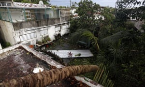 Aftermath from Hurricane Irma in Puerto Rico in the vicinity of the Santurce neighborhood.