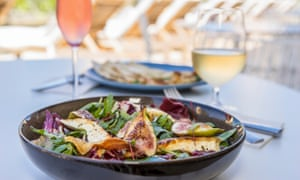Australian and Mediterranean influenced meals on the menu at Bannisters Pavilion, Mollymook Beach on the South Coast.