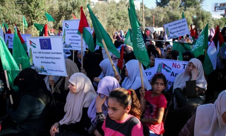 Protest against Israel's annexation plans, Gaza, 9 July.