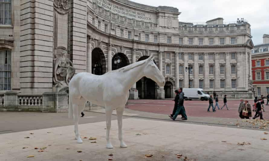 The White Horse sculpture by artist Mark Wallinger in the Mall.