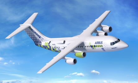 The Airbus E-Fan X, a collaboration between Rolls-Royce and Airbus, is an electric hybrid test aircraft with one electric and three kerosine engines.