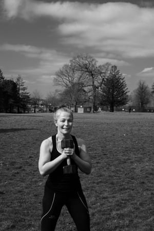 Amanda Kirk exercises in Heath park