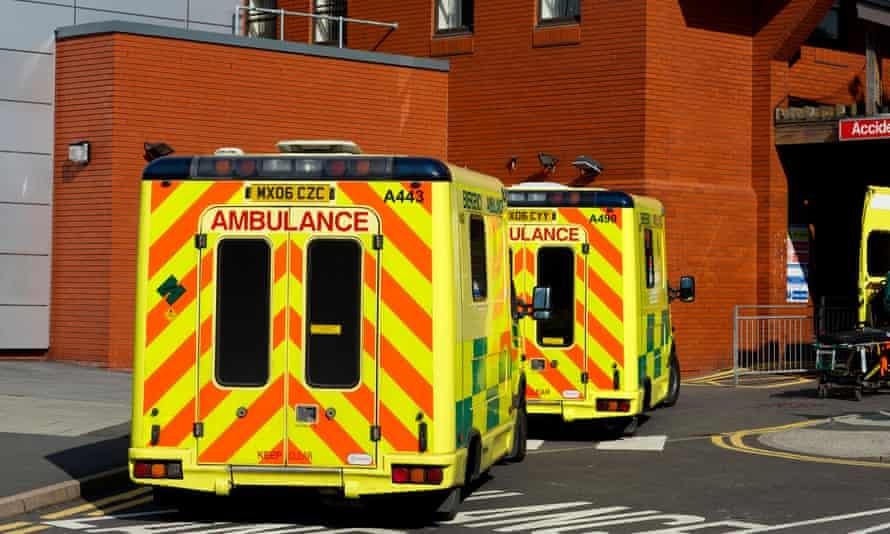 Ambulances outside a hospital's A&E department