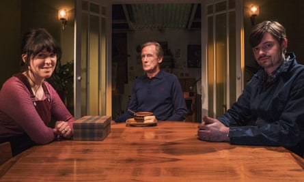 Alice Lowe, Bill Nighy and Sam Riley in Sometimes Always Never.