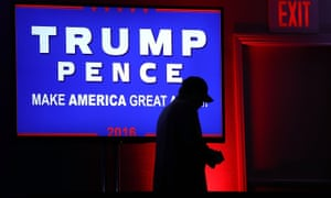 Donald Trump's election night party at Hilton Midtown hotel in Manhattan