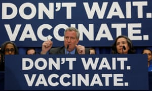New York City Mayor Bill de Blasio declared a public health emergency in parts of Brooklyn in response to a measles outbreak.
