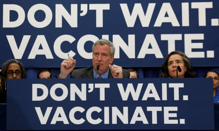 New York City Mayor Bill de Blasio declared a public health emergency in parts of Brooklyn in response to a measles outbreak.