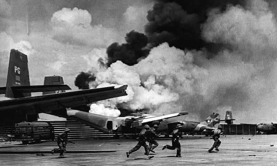 North Vietnamese soldiers at Tan Son Nhat airport during the fall of Saigon on 30 April, 1975.