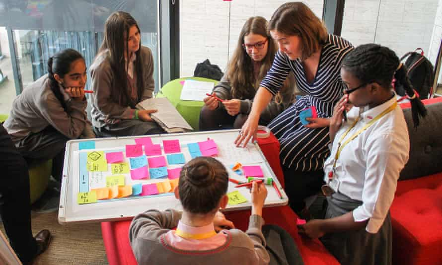 Students learning about rapid iteration during the UX and Product workshop