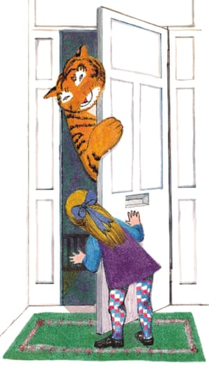 Illustration from The Tiger Who Came To Tea book